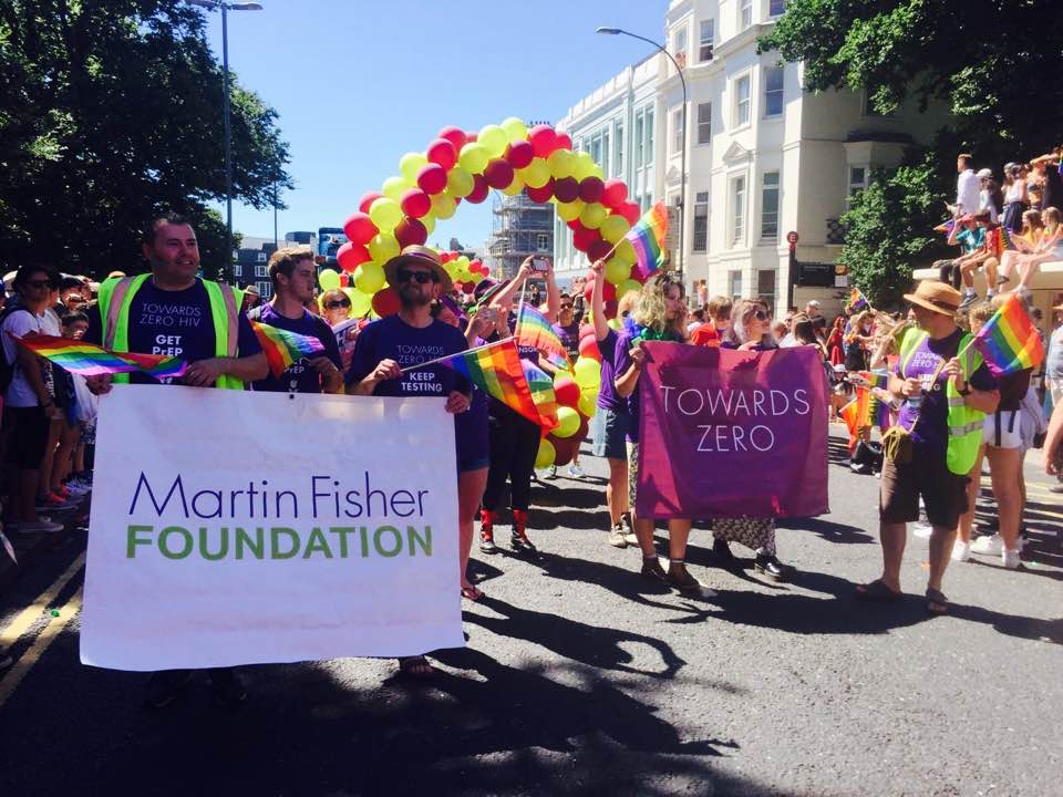 Martin Fisher Foundation walkers in the Brighton & Hove Pride Parade 2016
