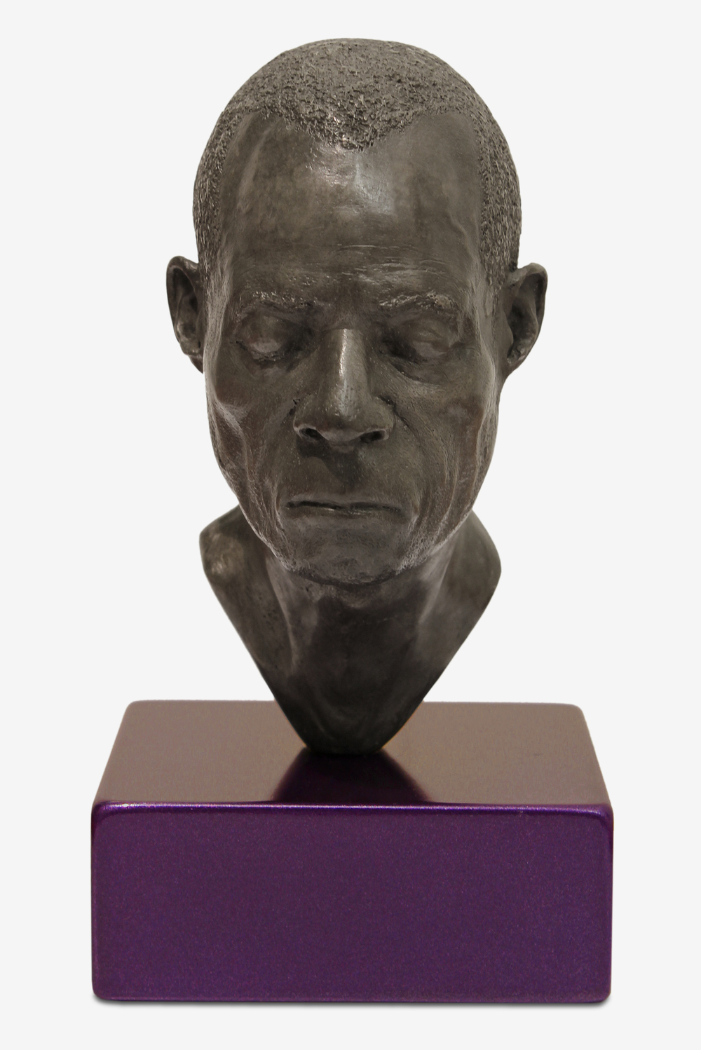 Tom Price, Head 4 (Coloured Base), 2012, Silvered bronze, Perspex and spraypaint, 14.7 x 8 x 10.3 cm.jpg