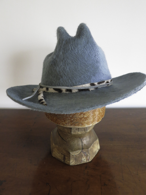 Floppy Western. A blue grey Melusine western style hat .
