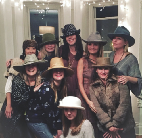 A fabulous group of Ladies at the Launch modeling M&D hats.