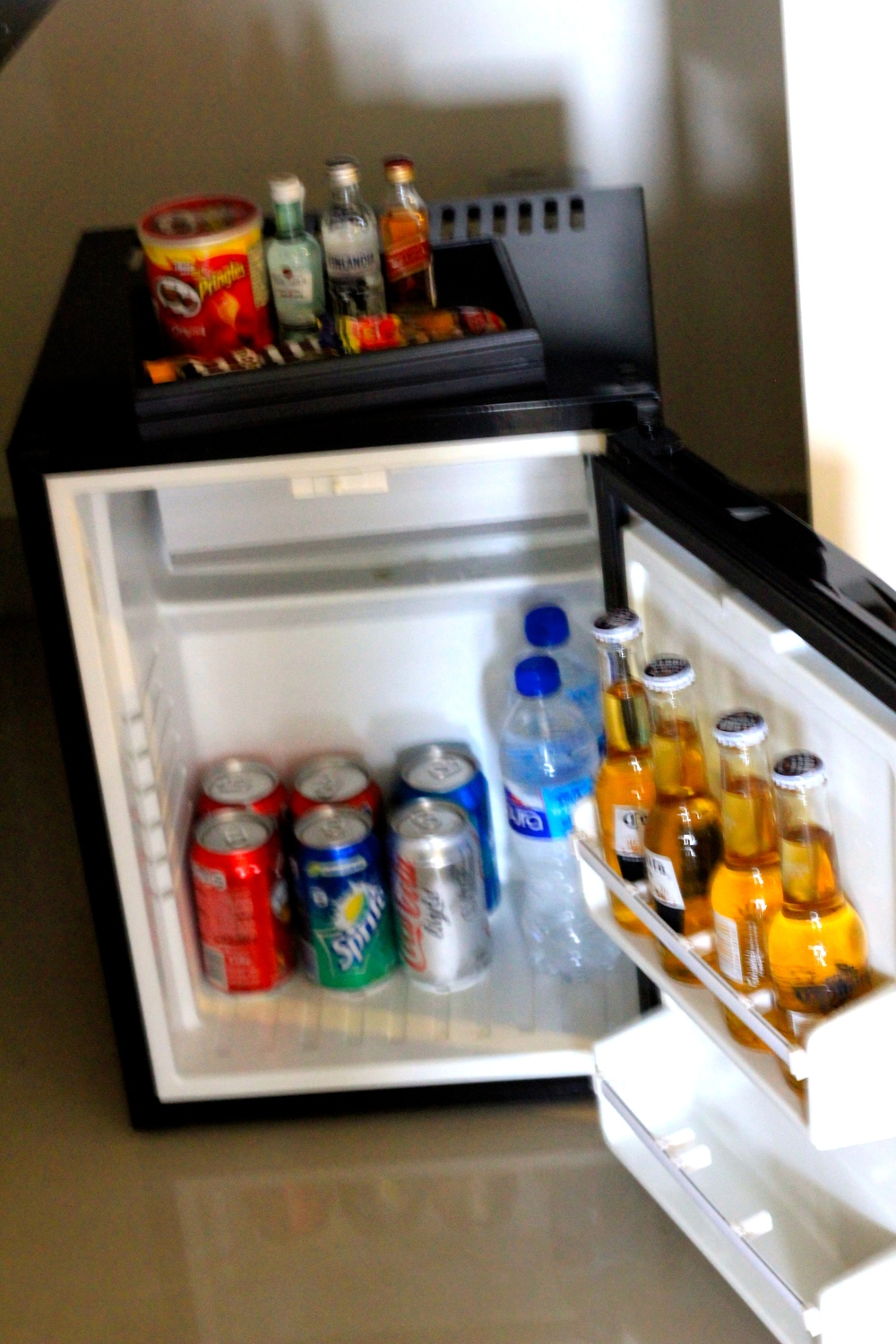 Stocked Mini Fridge