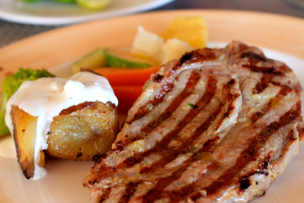 New York Steak and Baked Potato