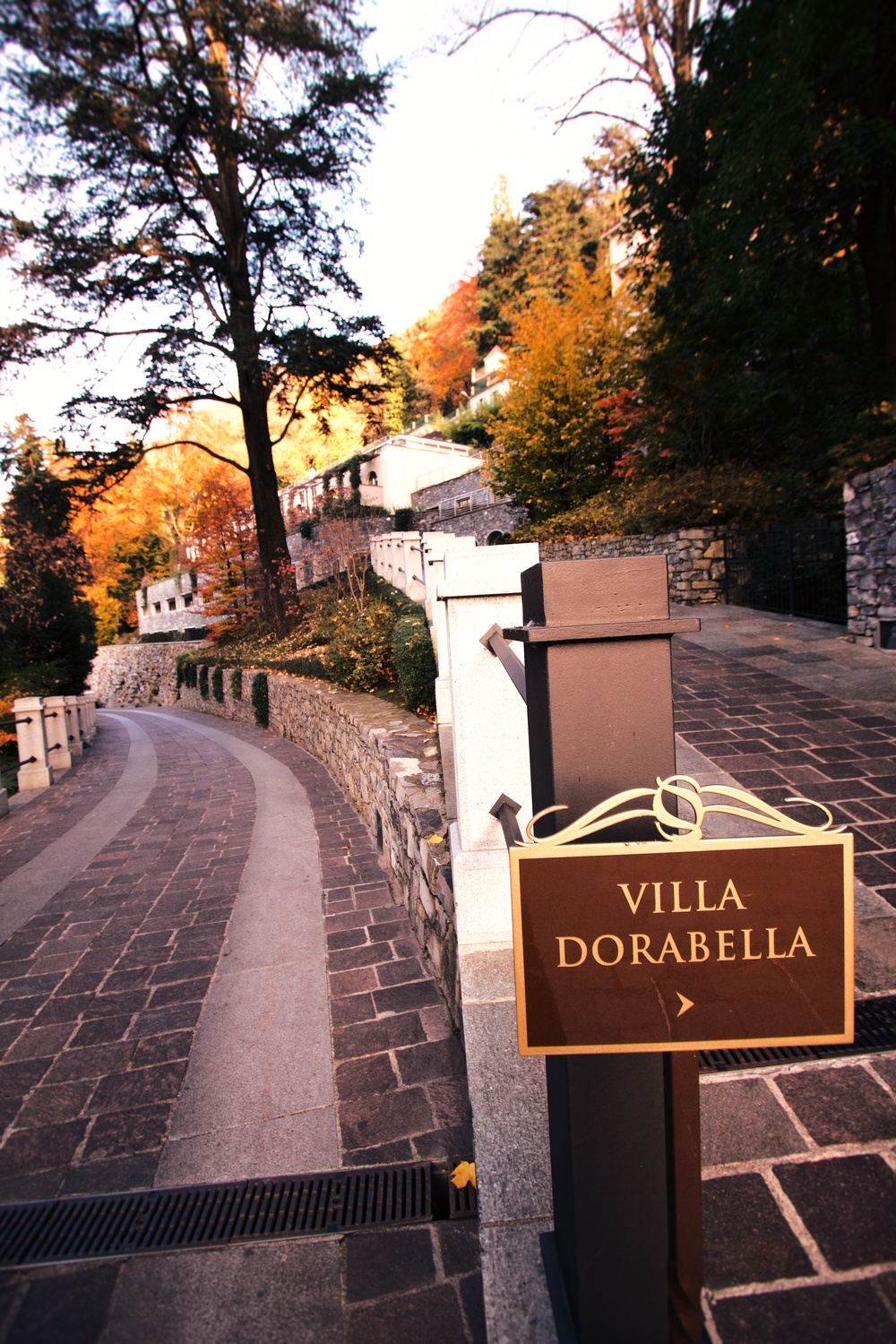 Path up to Villa Dorabella