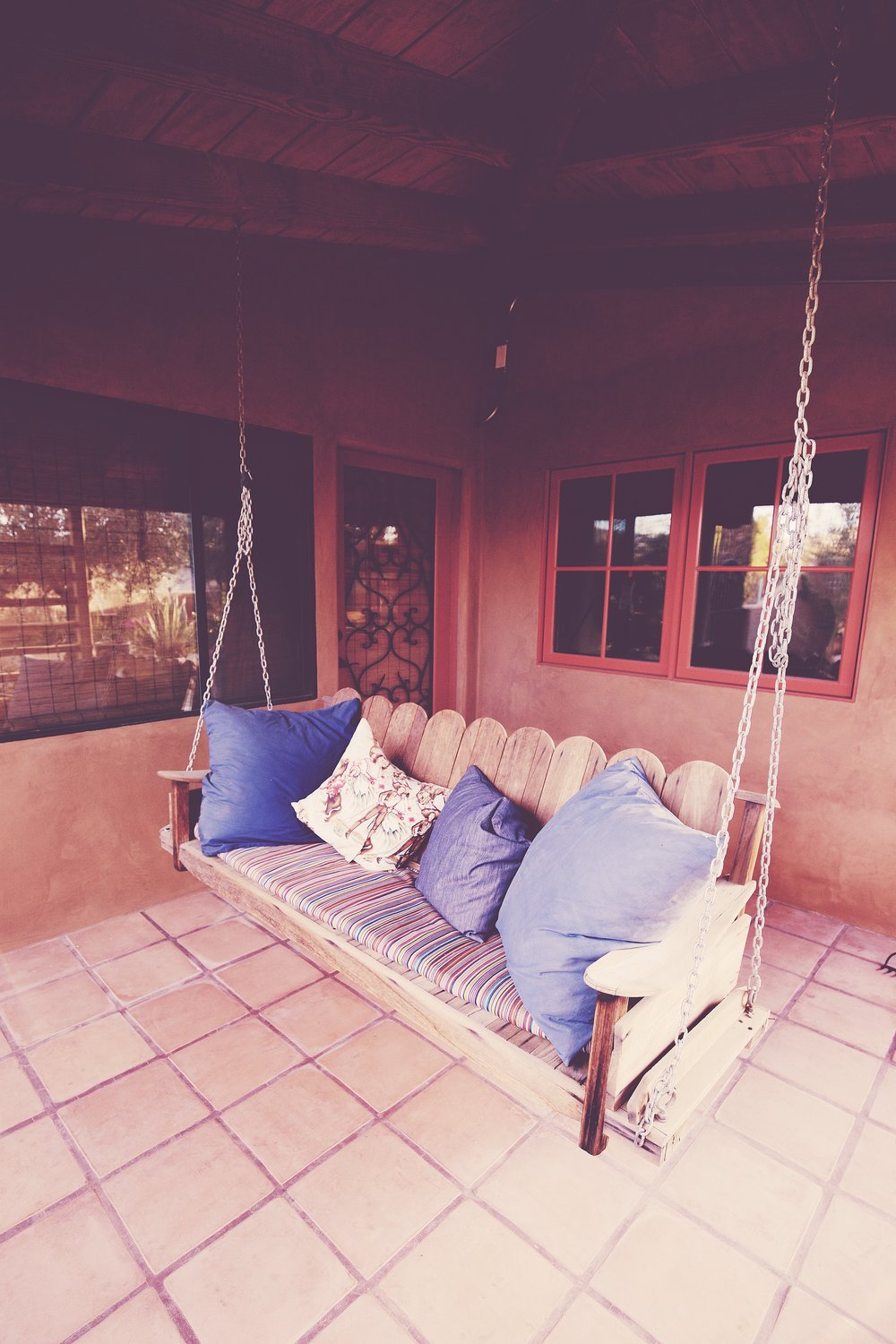 Porch Swing outside the front guest room
