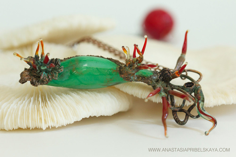 Haeckel's Actiniaria #1 by Anastasia Pribelskaya