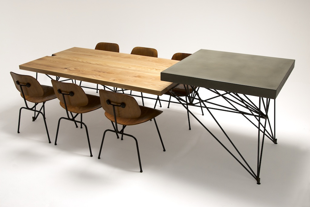 Concrete + Steel + Wood Dining Table / by Gore Design Co.