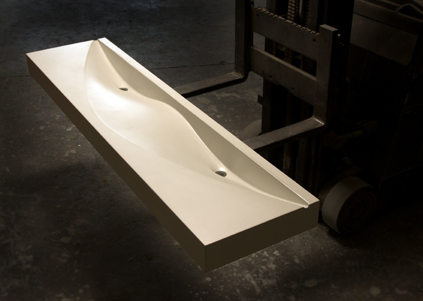 The Stingray Sink was created by workshop attendees of the 2.5 Day Fabric-Forming + GFRC class