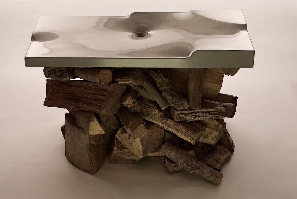 The Terra Sink, A Fabric Formed Concrete Sink, Was Made By Students Of