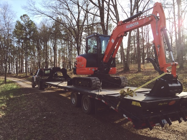 To build we needed muscle. A Kubota KX-040 was just the ticket. How hard could it be to operate, right?