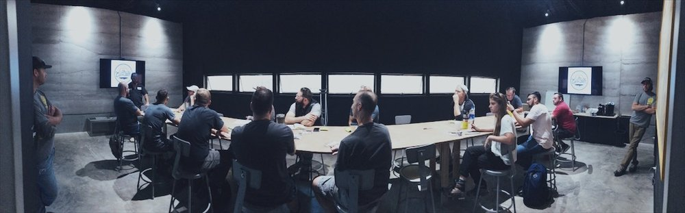 Our meeting room is spacious enough to easily host 20+ attendees.
