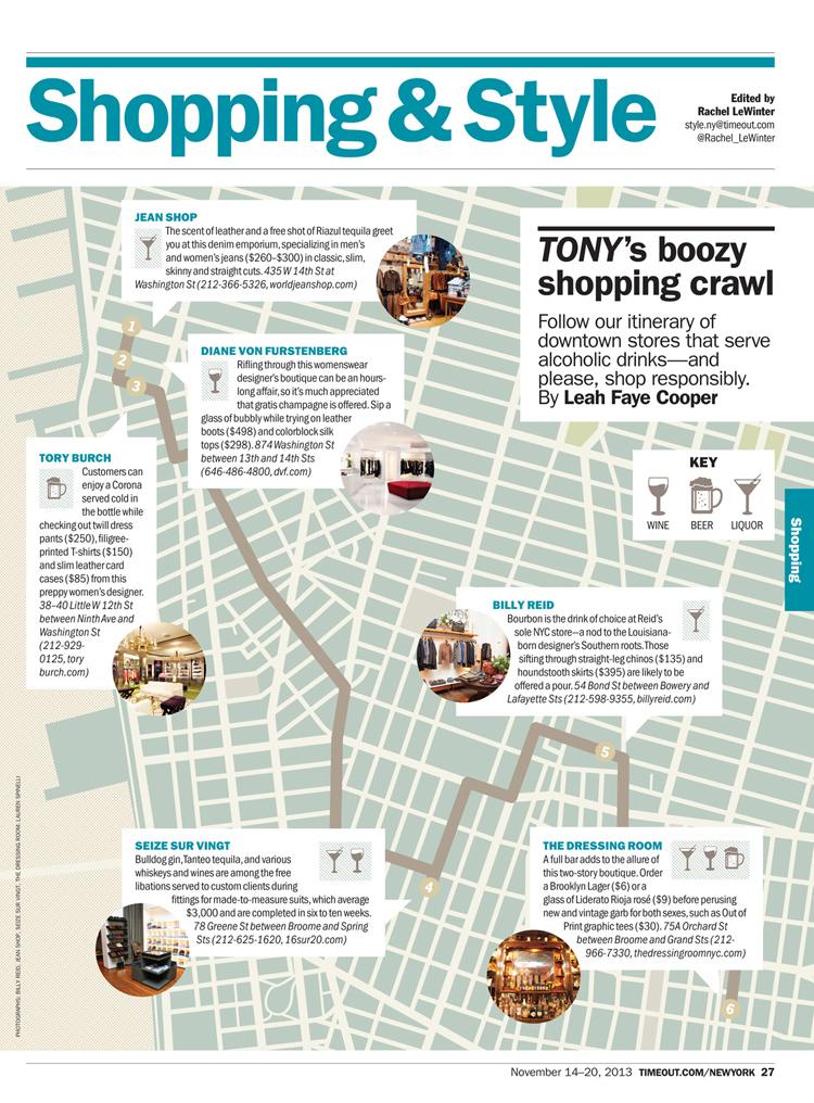 Boozy Shopping Crawl
