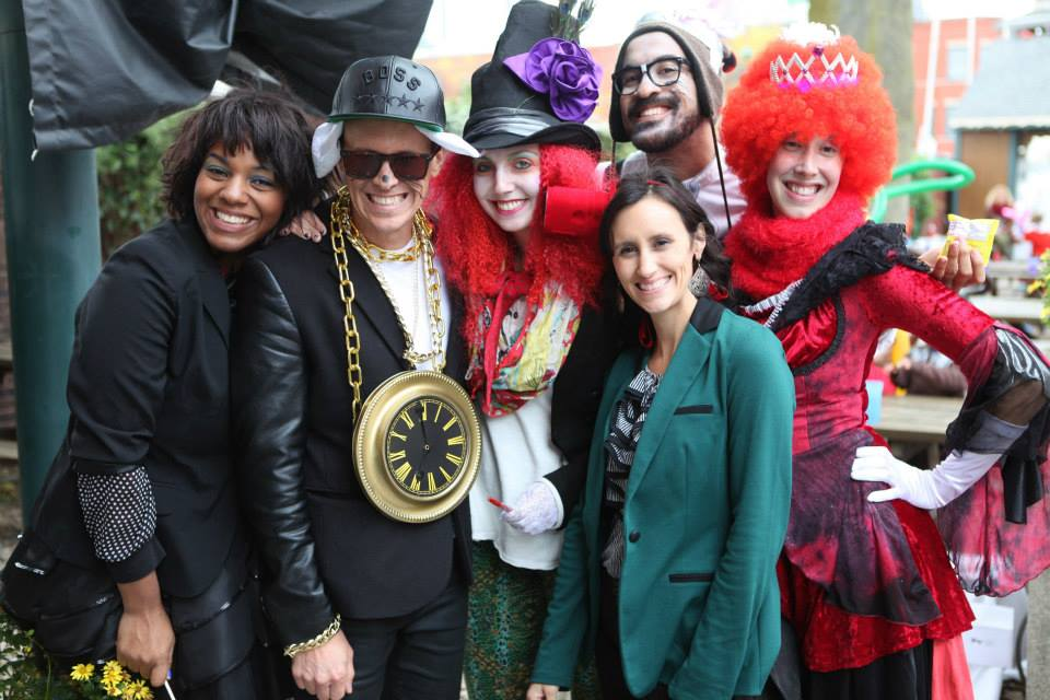 Staff at Fantastical:Down the Rabbit Hole, 2014 (from left,Denise Warnsby, Justin Wade, Georgeanna Smith, Michael Burke, Catherine Wade, Julie Mauro)