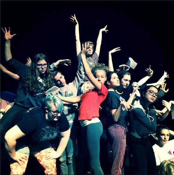 Teens devising Snow White, 2015