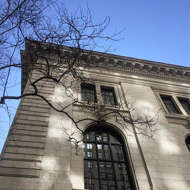 Persephone is almost back from her stay in the underworld.  #spring #nypl #library #bryantpark #architecture #chasingshadows #springsolstice #newyork