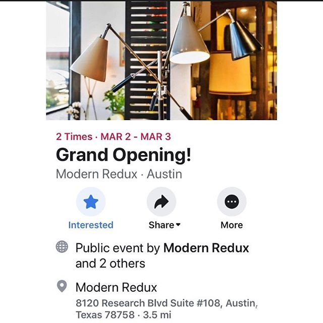 It's going to be a great weekend to be doing things indoors.  So why not stop by one of Austin's newest vintage stores!  Modern Redux is having their grand opening celebration Sat-Sun.  Visit their Facebook page for more details.