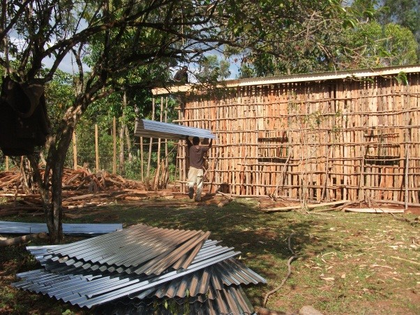 An Open Way school building under construction