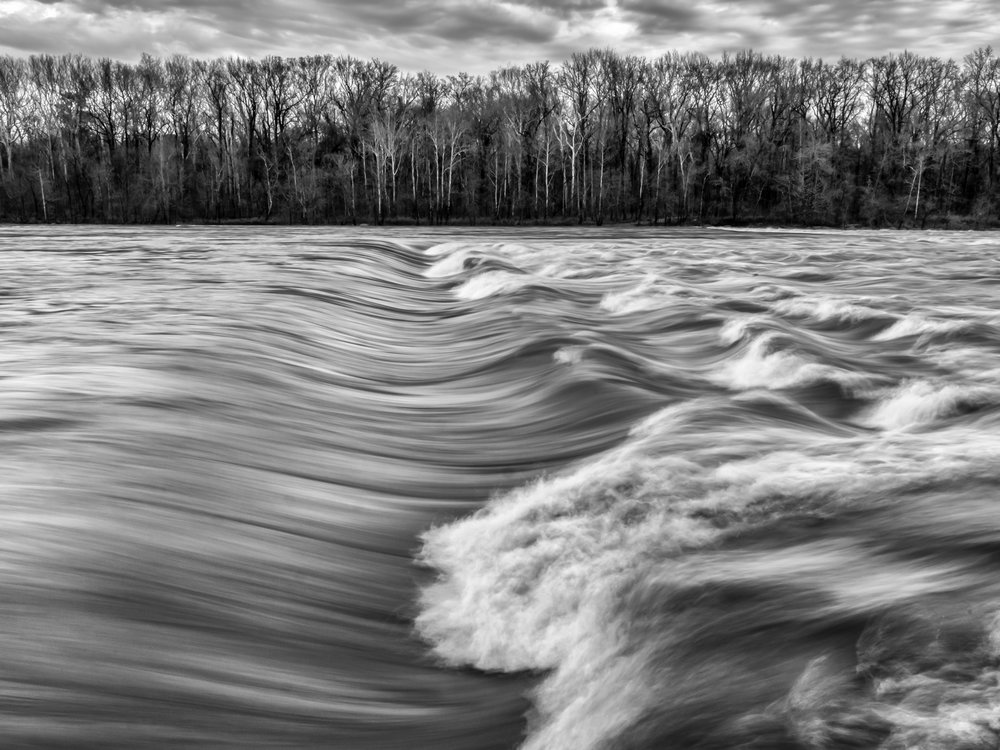 James River, Richmond, VA (Category:  Landscape B&W).  Second Place Ribbon