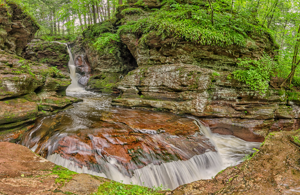 Adams Falls, Ricketts Glen State Park (Category: Landscape, Color)    Second Place Ribbon