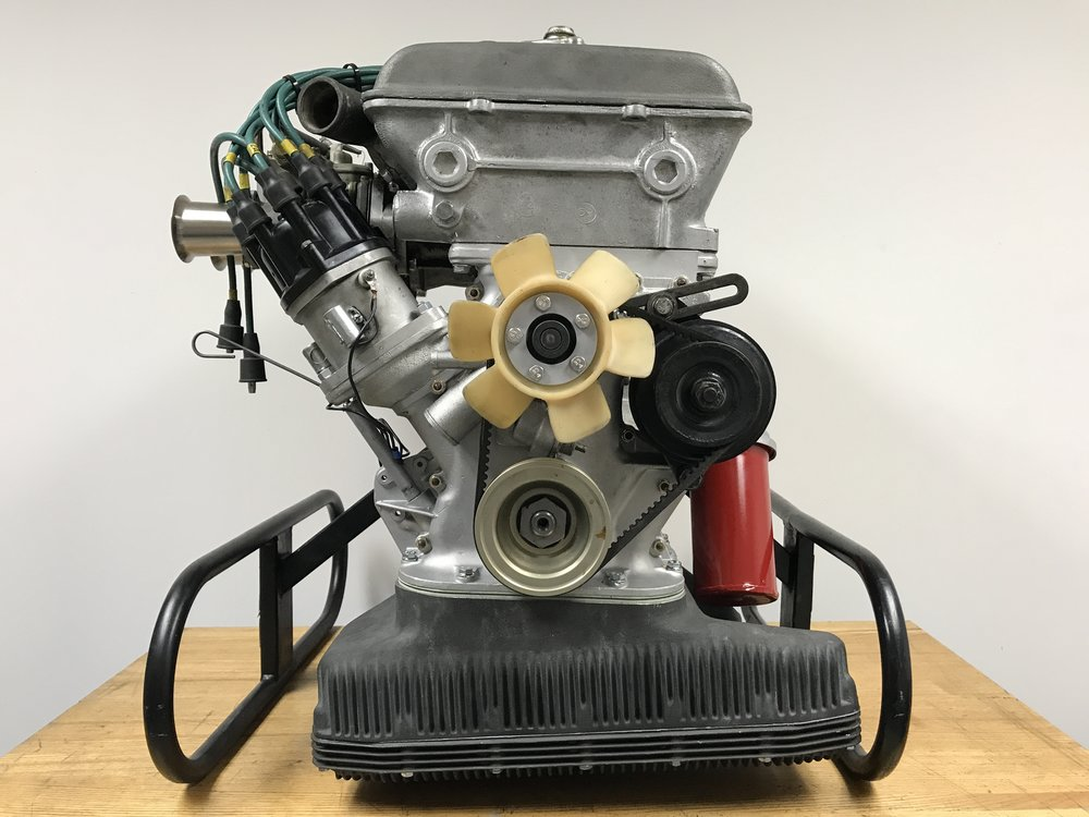1965 Alfa Romeo GTA 1600 engine prepared for 2017 Monterey Historics.