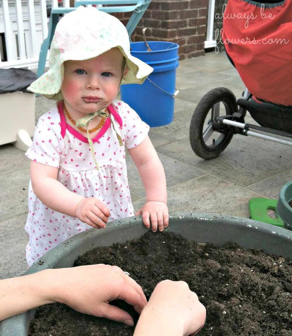 Gardening with my toddler.