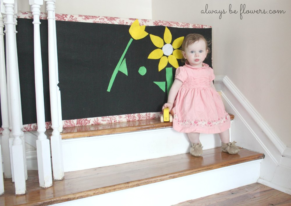 The first two steps have become a favorite play spot.