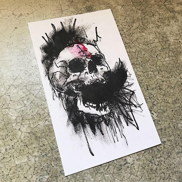 dark thoughts/harsh words #skulloscope #skull #illustration