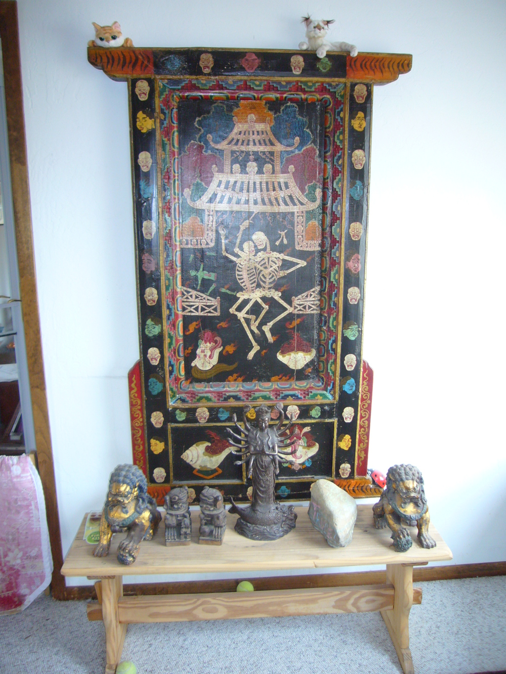 tibetan wrathful god shrine
