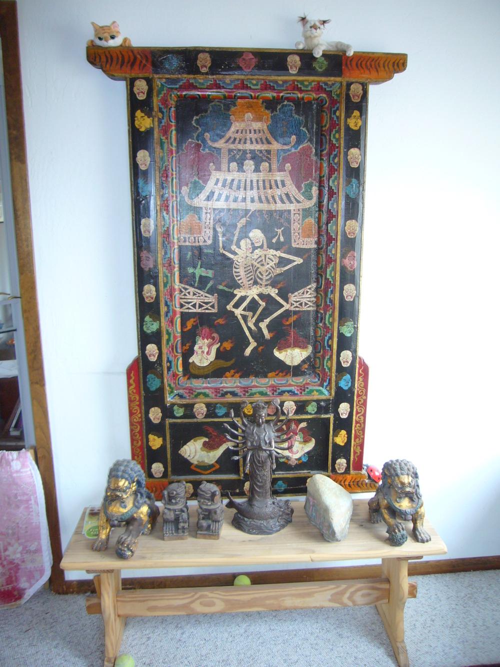 tibetan wrathful god shrine