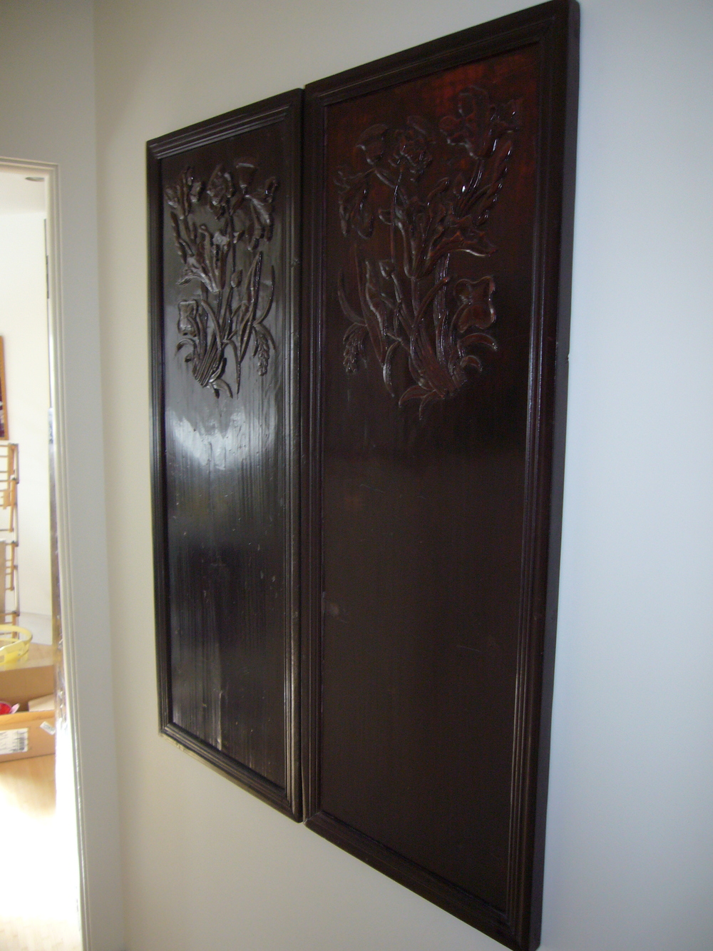 shallow relief cabinet doors