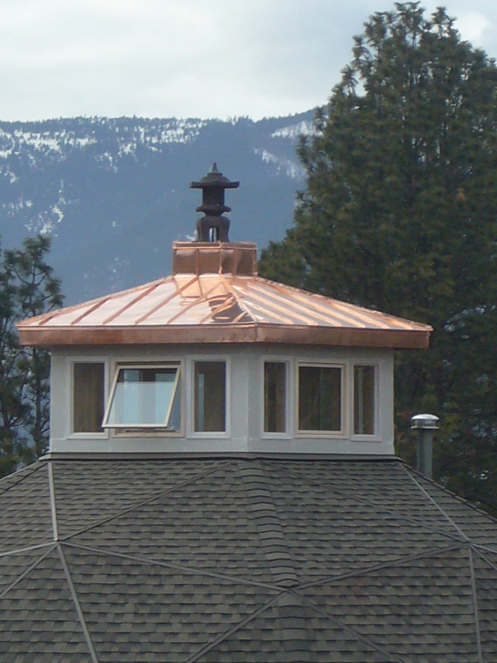 stupa on copper cupola