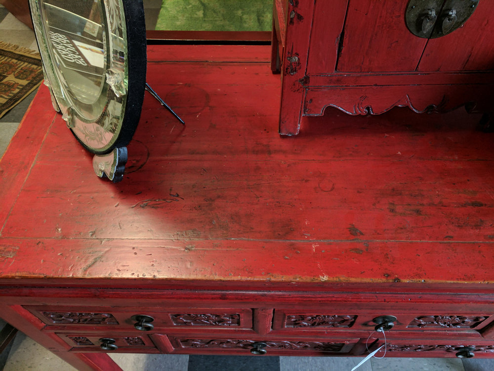 Red Console Table china woods fine furniture