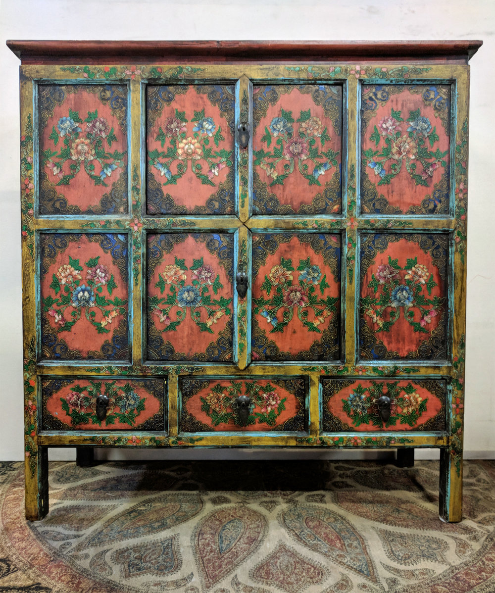 Delicieux Gorgeous Tibetan Cabinet