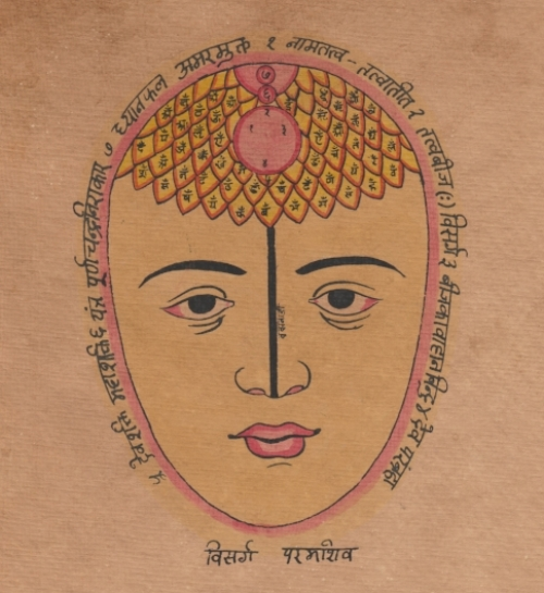 Hand colored print for meditation from Rajasthan 2012.jpg