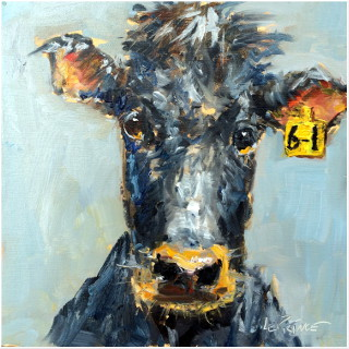 8x8 Oil Painting | Farm Art