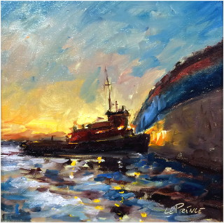 Tug Boat Study | 8x8 Oil Painting