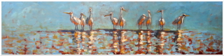 12x48 Oil on Canvas | Bird Art