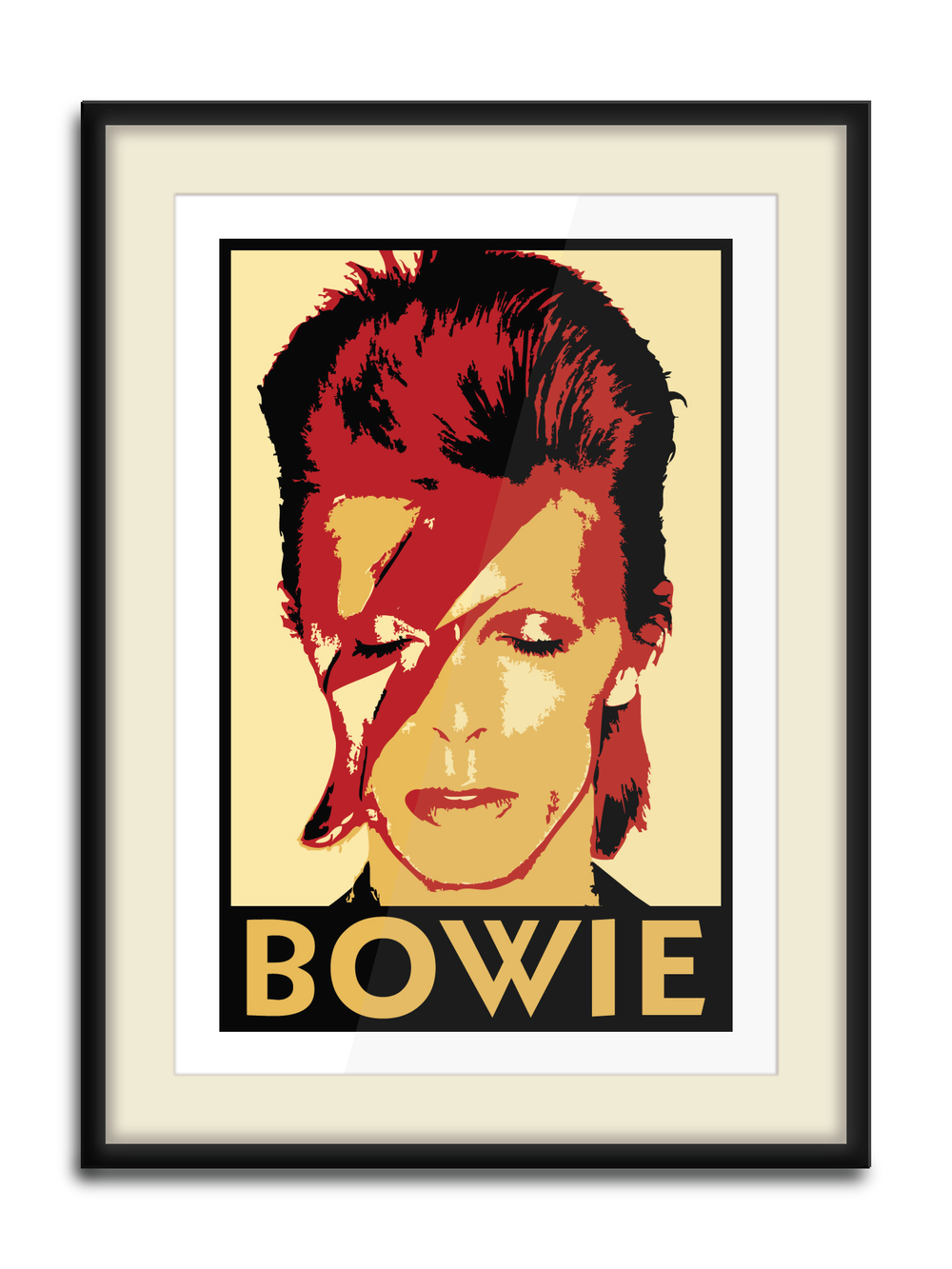"""Bowie Print""  4 Color Hand Pulled Screen Print  Print Size: 11"" x 17""  Edition of 10"