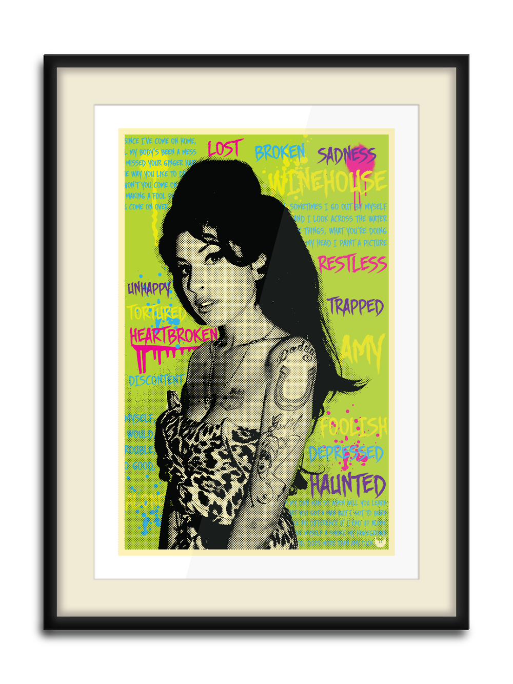 """Amy Words""  8 Color Hand Pulled Screen Print  Print Size: 11"" x 17""  Edition of 12"
