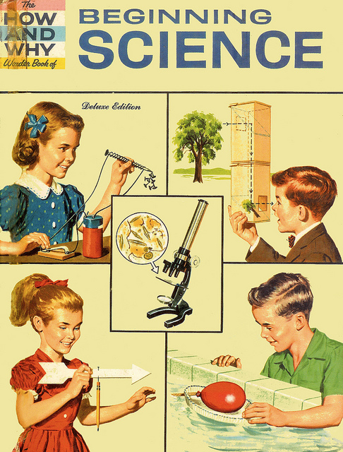 old-ads-and-mags :      … let's do science!      As part of my new series  #explorationsundays , I bring you this straight out of the vintage ad world. I remember a chemistry set I got as a kid that was way too advanced for my age, but that was definitely part of the fun. I'm glad to see a company like  littleBits  making fun electrical science kits for kids, although my 10 month old nephew might still be a little young.