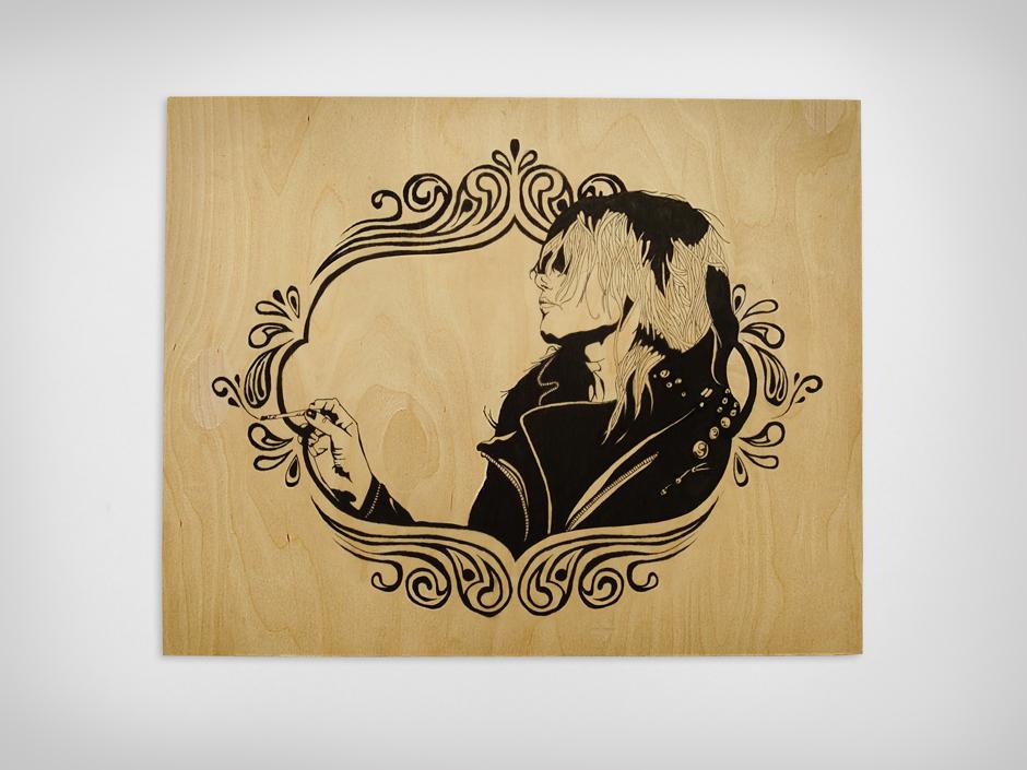 Ink on Wood