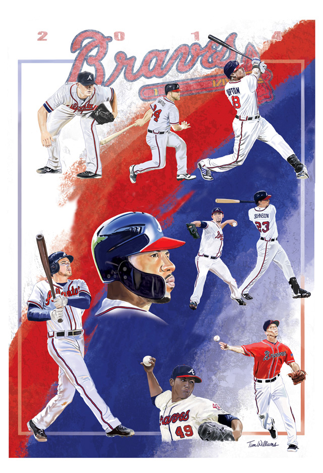 Atlanta Braves Team Poster