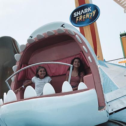 Shark Frenzy - Tilt-a-Whirl  Pacific Park @ Santa Monica Pier