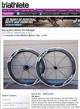 Triathlete.com reviews the 58RSC - Aero wheels on a budget