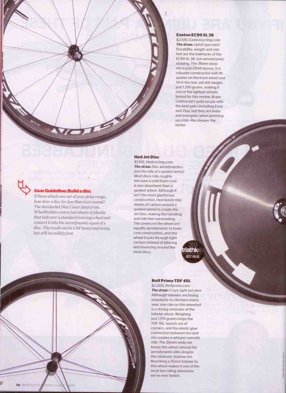 TdF4 SL review - Triathlete Magazine, Spring 2013 buyers guide