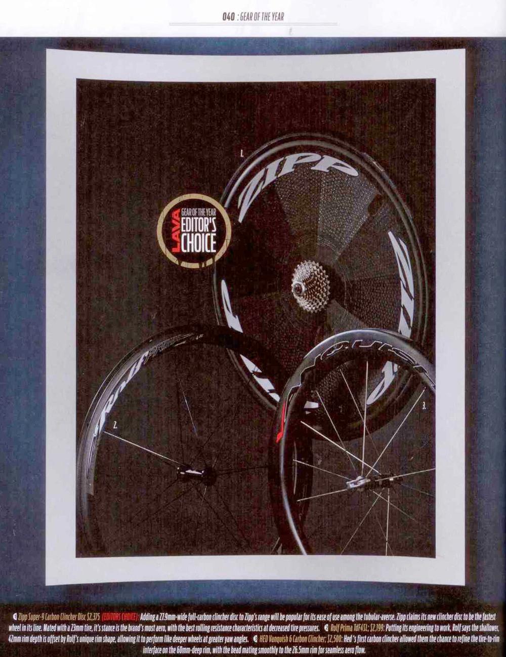 TdF4 SL - Gear of the Year 2013, LAVA Magazine