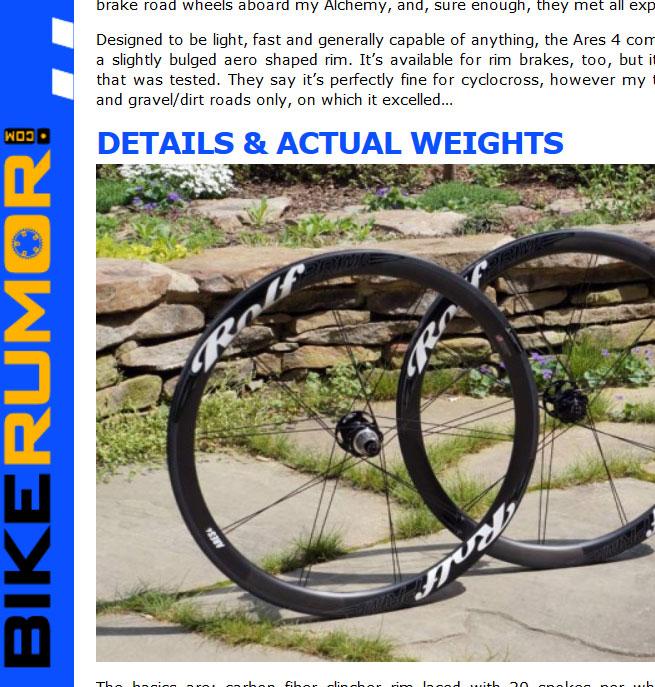 Bikerumor.com reviews 2014 Ares4 Disc - Tyler Benedict