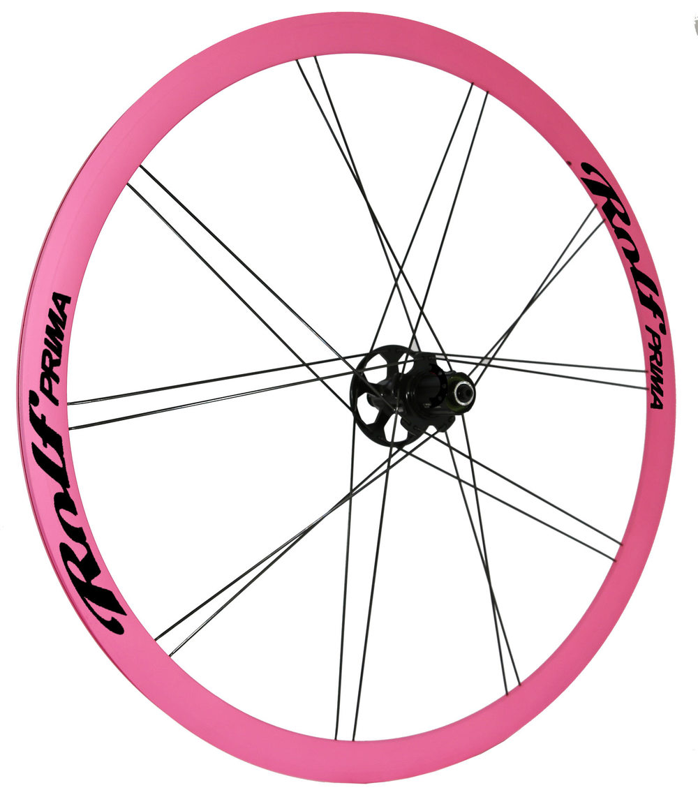 Painted Hills Pink rims with Obsidian Black decals
