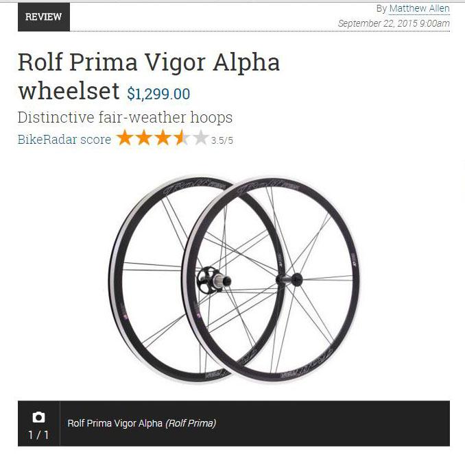 BikeRadar reviews the Vigor Alpha