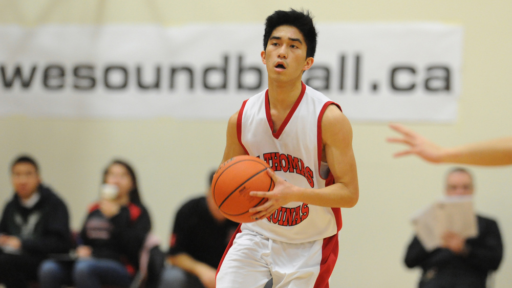 STA's Christian Diego scored 41 points including a school record eleven 3 pointers and was selected Player of the Game
