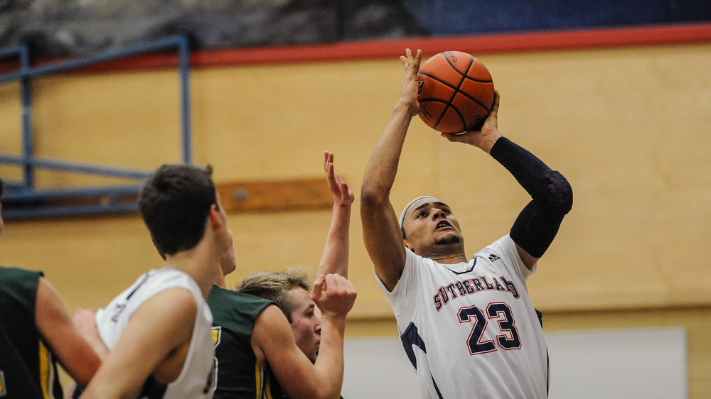 SUTHERLAND SABRES' GRADDY ZUBAIDI HEADS TO THE HOOP SCORING 2 OF HIS 30 POINTS